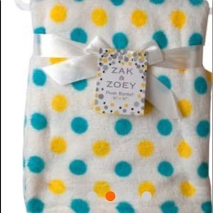 30 x 30 Polk a Dot Baby Blanket